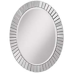 "Sunspot 33 1/2"" High Oval Wall Mirror"