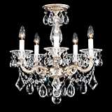 "Schonbek La Scala Collection 18 1/2"" Crystal Ceiling Light"