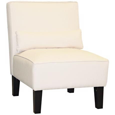 White Twill Armless Chair