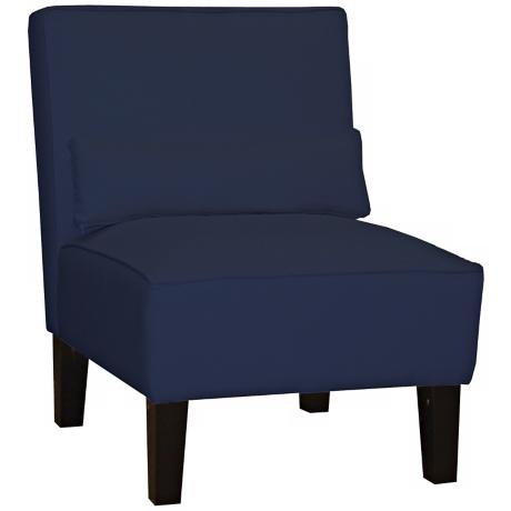 Navy Twill Armless Chair