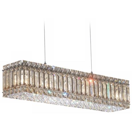 "Schonbek Quantum Collection 24"" Wide Crystal Pendant Light"