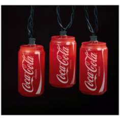 Coca-Cola Cans 10-Light String of Party Lights
