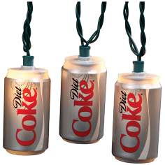 Diet Coke Cans 10-Light String of Party Lights