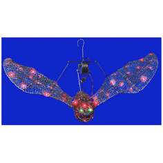 "50-Light 48"" Wide Animated Flying Bat"