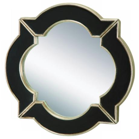 "Eliza Black and Champagne Silver Accent 16"" Wide Mirror"