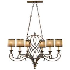 "Murray Feiss Justine 36"" Wide 6-Light Chandelier"