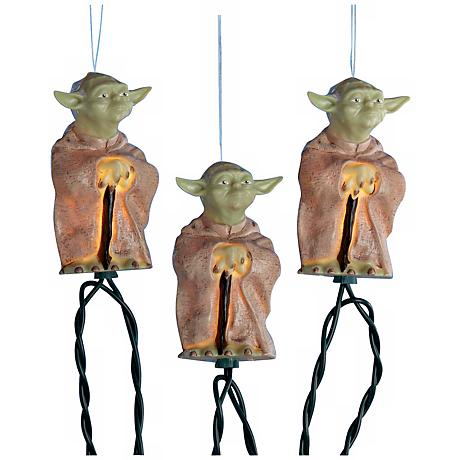 Star Wars Yoda 10-Light String of Party Lights
