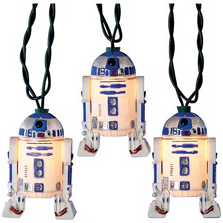 Star Wars R2D2 10-Light String of Party Lights - #N6618 |
