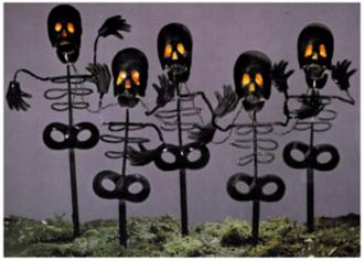 Halloween Skeleton Lawn Lights