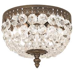 "Schonbek Rialto Collection 8"" Wide Crystal Ceiling Light"