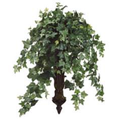 Ivy in Long Resin Wall Sconce Faux Foliage