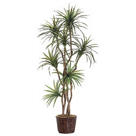 "Yucca Tree in Planter 84"" High Faux Plant"
