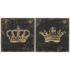"Set of 2 16"" Square Crowns Wall Art"