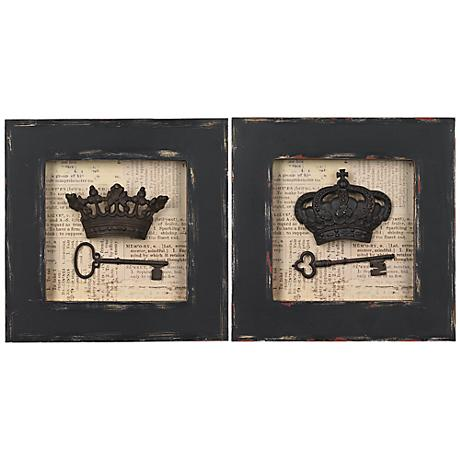 "Crowns and Keys 12"" Square Wall Art"