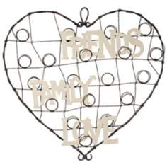 Heart Metal Love, Family, Friends Card Holder