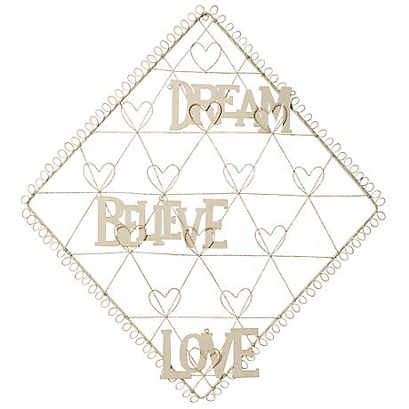 Diamond with Hearts Dream, Believe, Love Card Holder