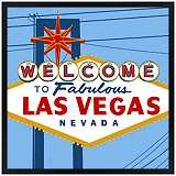 "Vegas 26"" Square Black Giclee Wall Art"