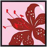 "Lily 26"" Square Black Giclee Wall Art"