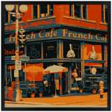 "Bistro 26"" Square Black Giclee Wall Art"