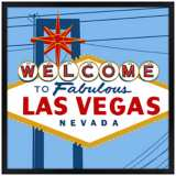 "Vegas 31"" Square Black Giclee Wall Art"