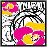 "Whirl 31"" Square Black Giclee Wall Art"