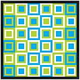 "Bouncing Boxes 31"" Square Black Giclee Wall Art"