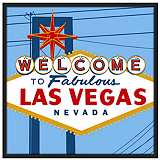 "Vegas 37"" Square Black Giclee Wall Art"