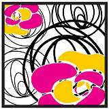 "Whirl 37"" Square Black Giclee Wall Art"