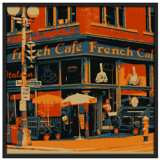 "Bistro 37"" Square Black Giclee Wall Art"