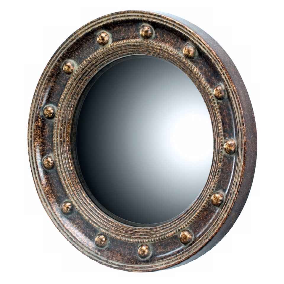 "Porthole 21 1/4"" High Oval Wall Mirror   #N7183"