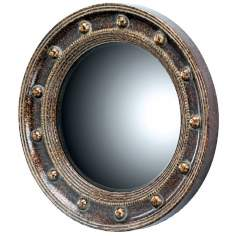 "Porthole 21 1/4"" High Oval Wall Mirror"