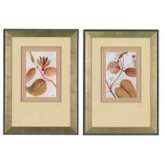 "Set of 2 Botanical Sprig 28"" High Printed Wall Art"