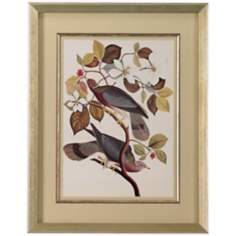 "Two Birds On Sprigs 28"" High Print Wall Art"