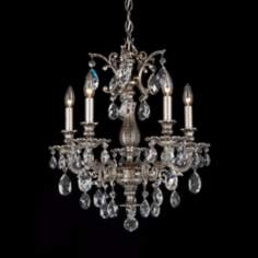 "Schonbek Milano Collection 18"" Wide Crystal Chandelier"