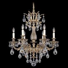 "Schonbek Milano Collection 24"" Wide Crystal Chandelier"
