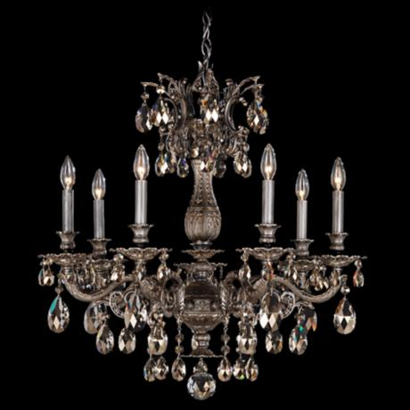 "Schonbek Milano Collection 27"" Wide Crystal Chandelier"
