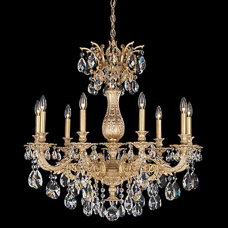 Canberra 19 3 4 Quot Wide Chrome 12 Light Crystal Chandelier