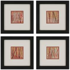 Set of Four Matrix Framed Wall Art