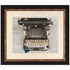 Typewriter Framed Wall Art