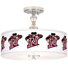 "CSUN Matadors 16"" Wide Semi-Flush Ceiling Light"