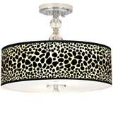 "Leopard Giclee 16"" Wide Semi-Flush Ceiling Light"