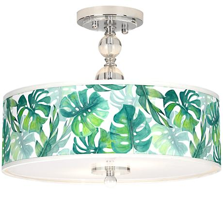 "Tropica Giclee 16"" Wide Semi-Flush Ceiling Light"