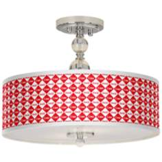 "Coca-Cola® Diamond 16"" Wide Semi-Flush Ceiling Light"