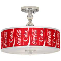 "Enjoy Coca-Cola® 16"" Wide Semi-Flush Ceiling Light"
