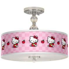 "Hello Kitty Apples 16"" Wide Semi-Flush Ceiling Light"