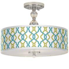 "Hyper Links Giclee 16"" Wide Semi-Flush Ceiling Light"