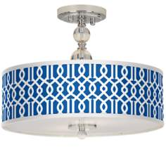 "Chain Reaction Giclee 16"" Wide Semi-Flush Ceiling Light"