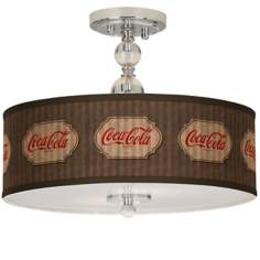 "Coca-Cola® Vintage Brown 16"" Wide Ceiling Light"