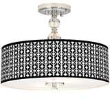 "Matrix Giclee 16"" Wide Semi-Flush Ceiling Light"
