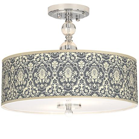 "Seedling by thomaspaul Damask 16"" Wide Ceiling Light"